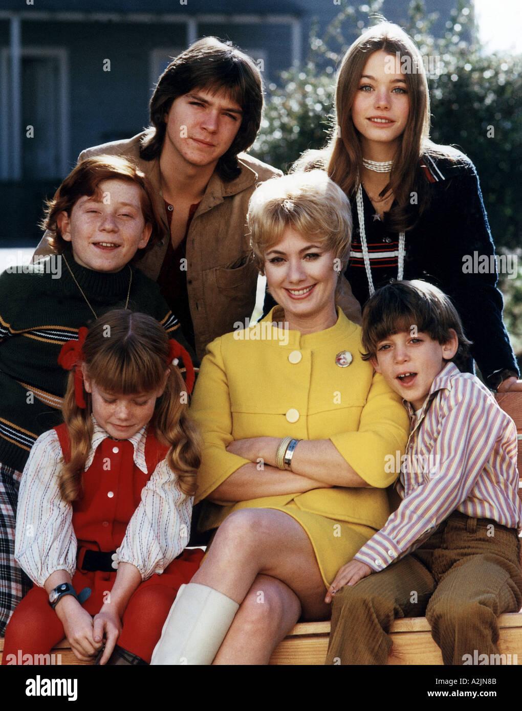 La famille PARTRIDGE séries télévisées américaines avec Shirley Jones centre et David Cassidy haut à gauche Photo Stock