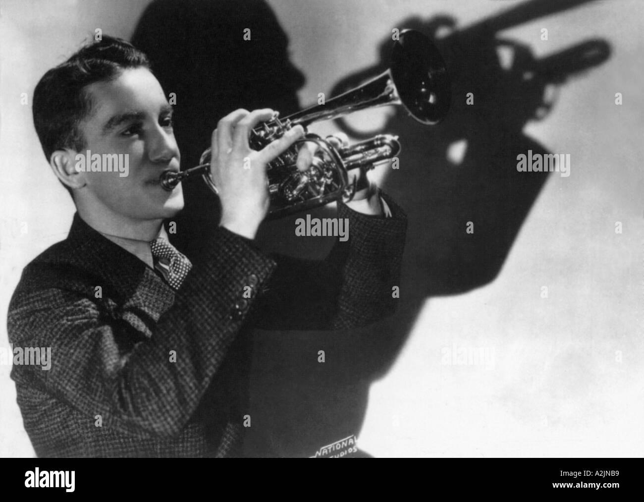 Chef d'orchestre américain RED NICHOLS sur 30s et 40s Photo Stock