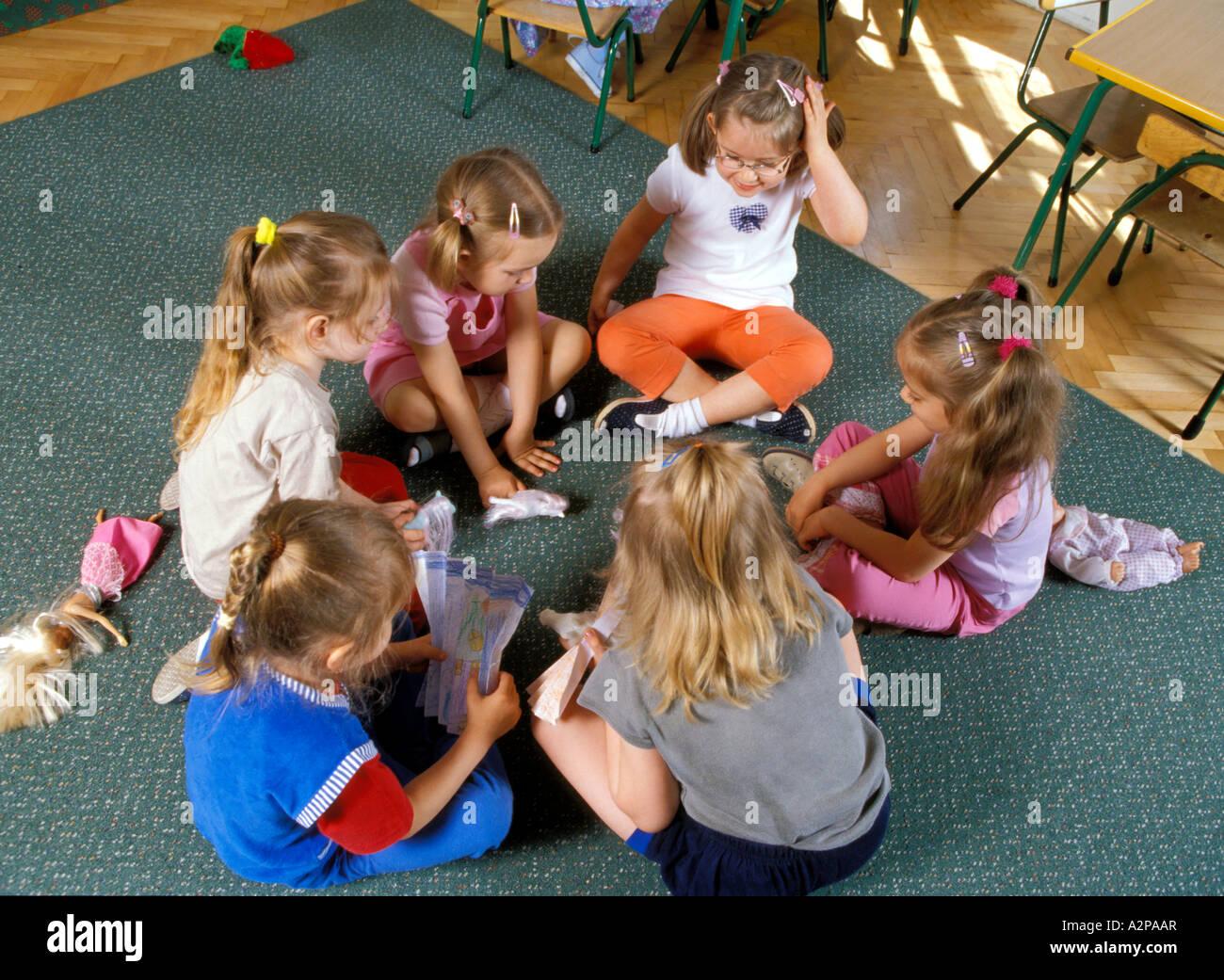 L'école maternelle nursery school Banque D'Images