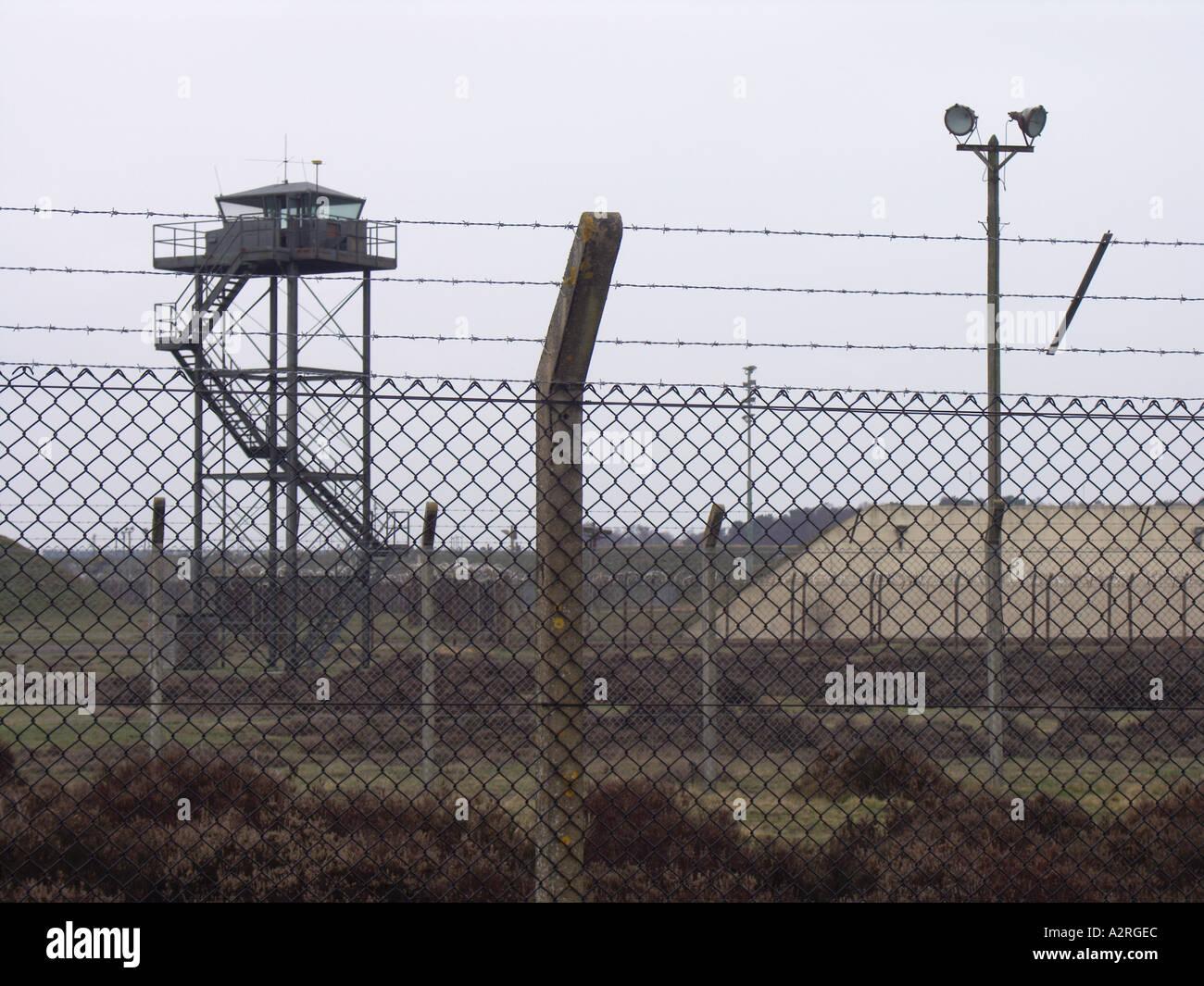 Base militaire de la guerre froide Woodbridge Suffolk Angleterre Photo Stock