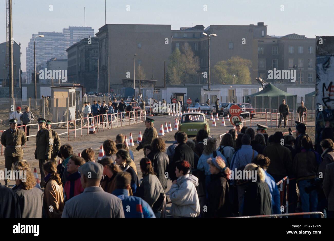 Europa Europe Deutschland Allemagne Berlin Mauerfall 1989 Chute du mur de la Potsdamer Platz Photo Stock