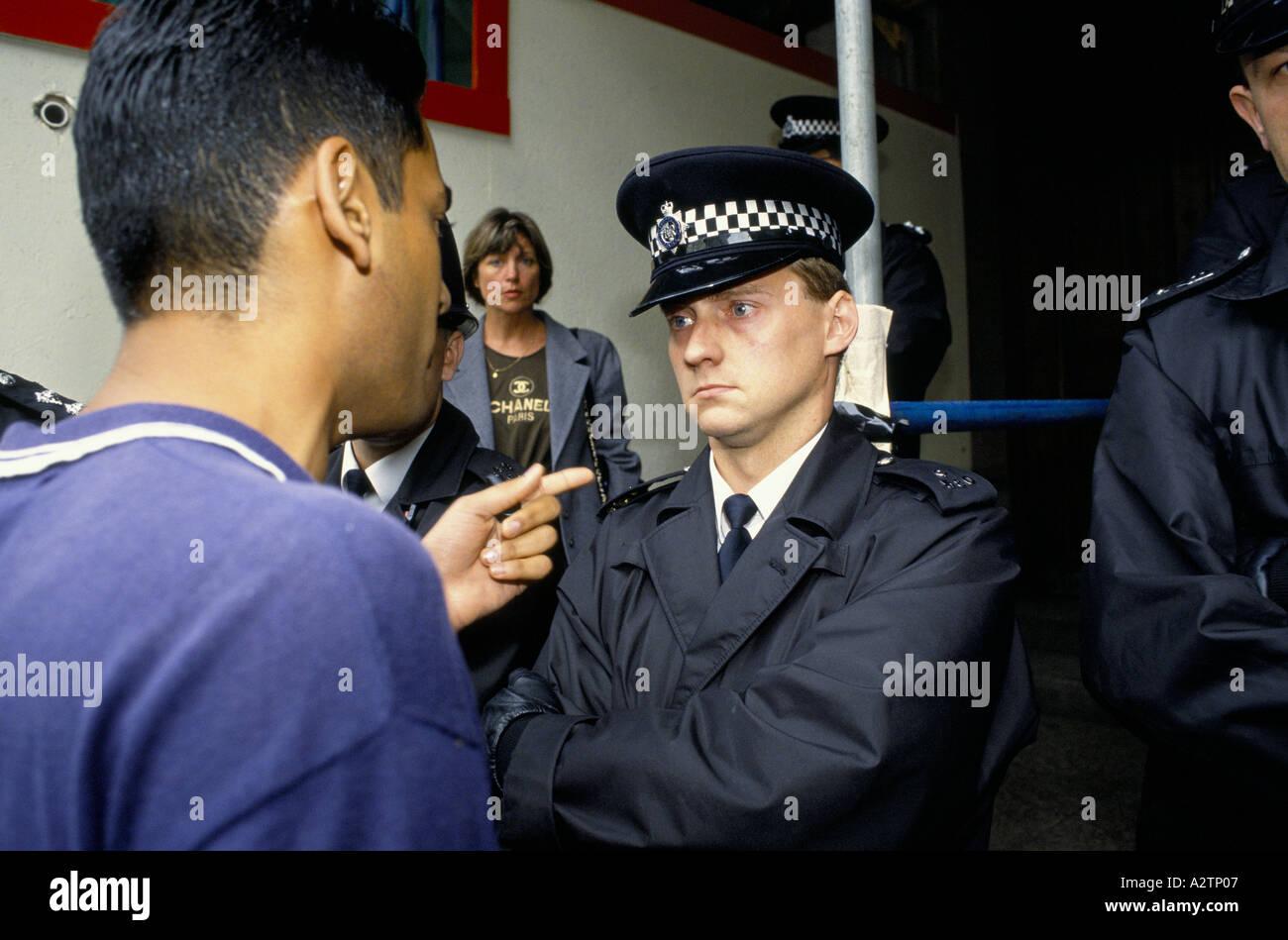 Démo indignation Londres 1992 Photo Stock