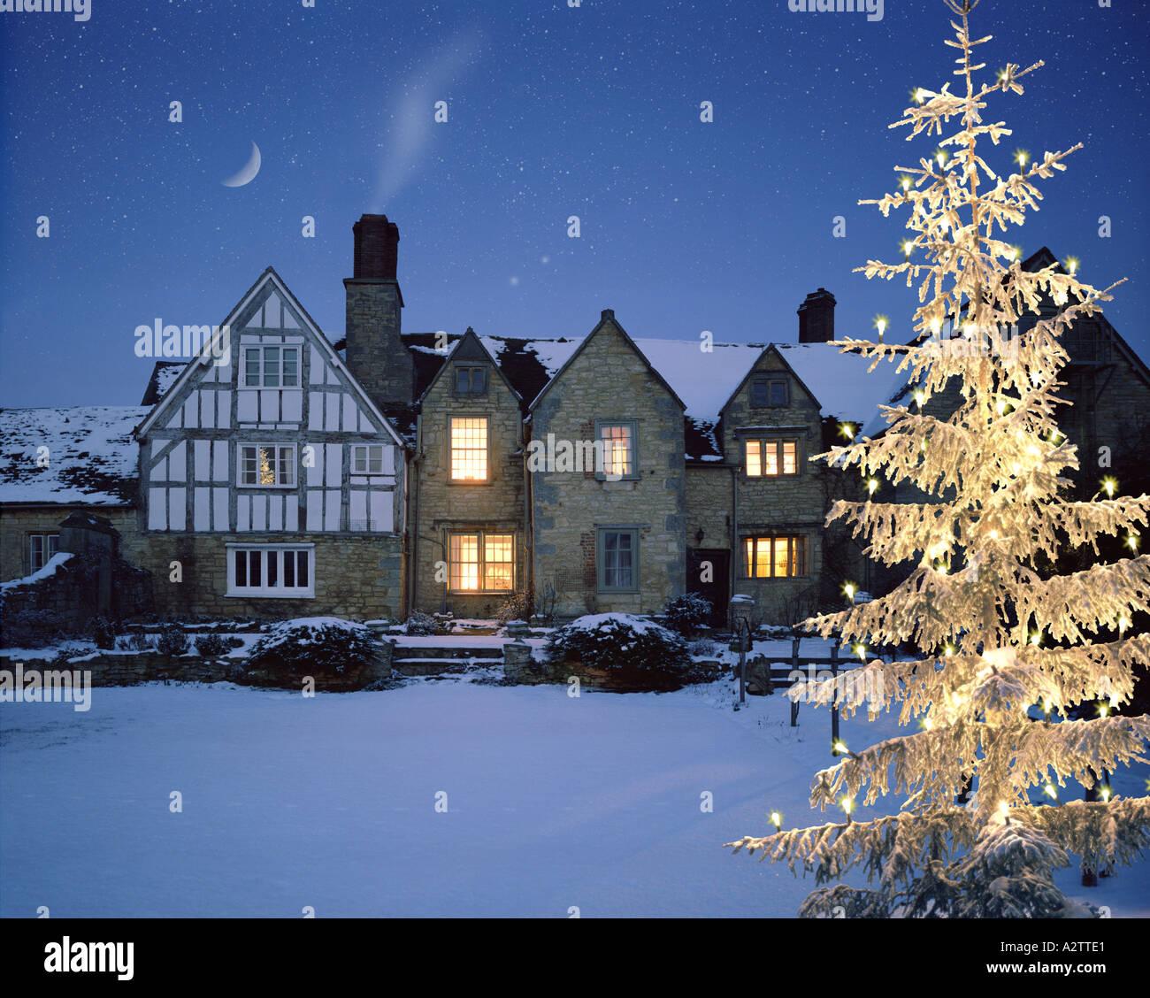 Go - WORCESTERSHIRE: Le Manoir à Norton de Bredons près de Tewkesbury Banque D'Images