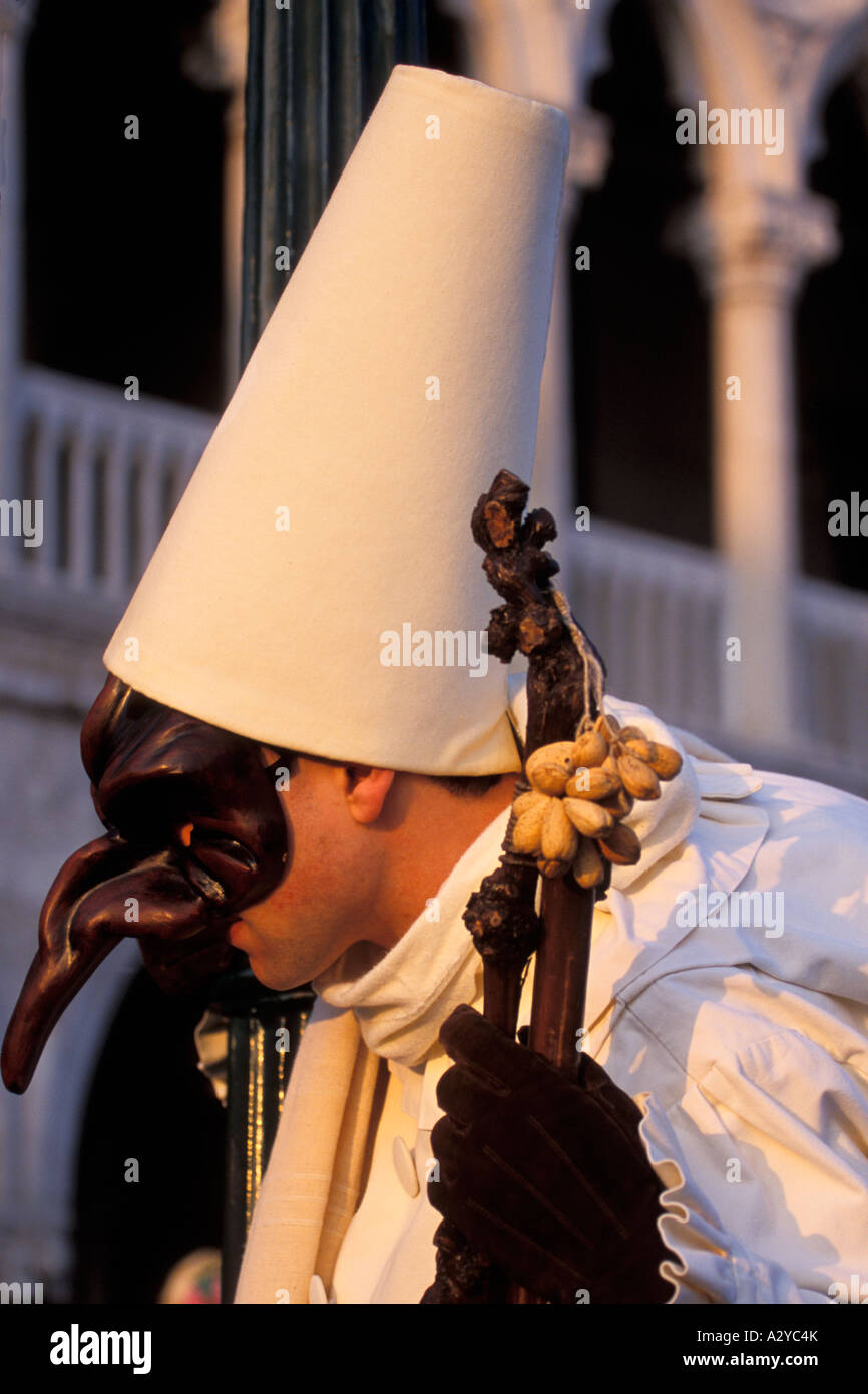 Peste traditionnel nez masque pour Carnevale, Venise, Italie Photo Stock