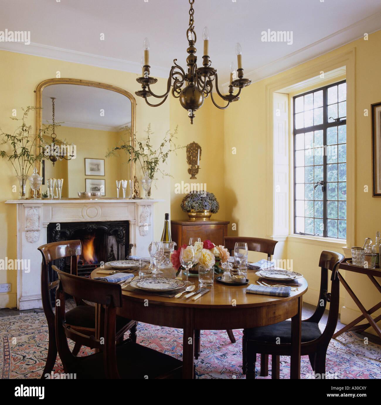 salle manger dans cette maison de style anglais pays de lintrieur