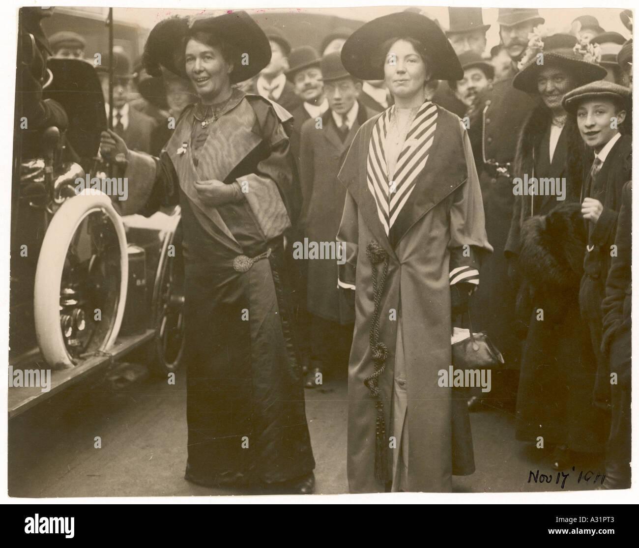 Députation Femmes 1911 Banque D'Images