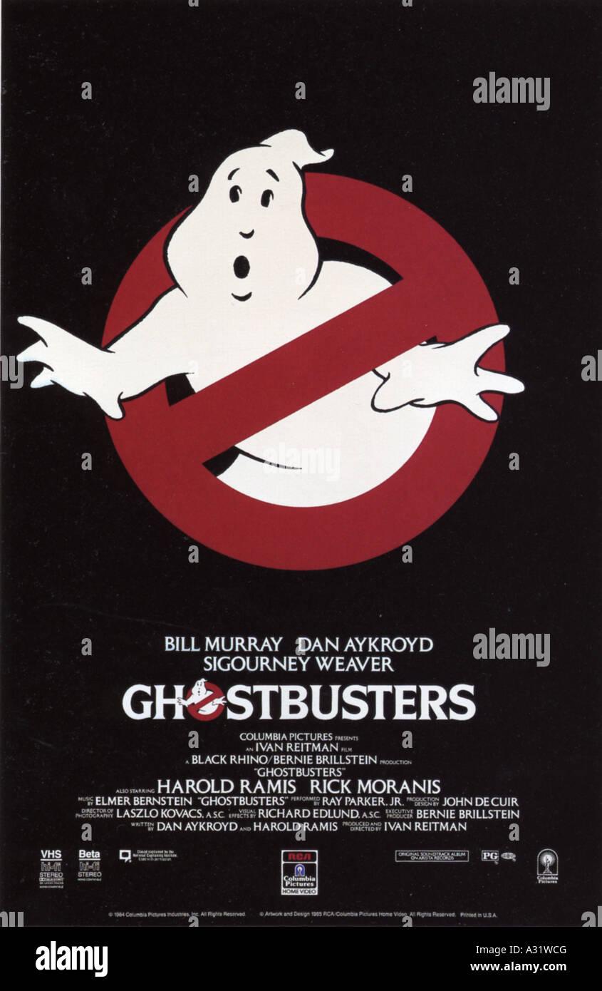GHOSTBUSTERS affiche pour 1984 Columbia film Banque D'Images