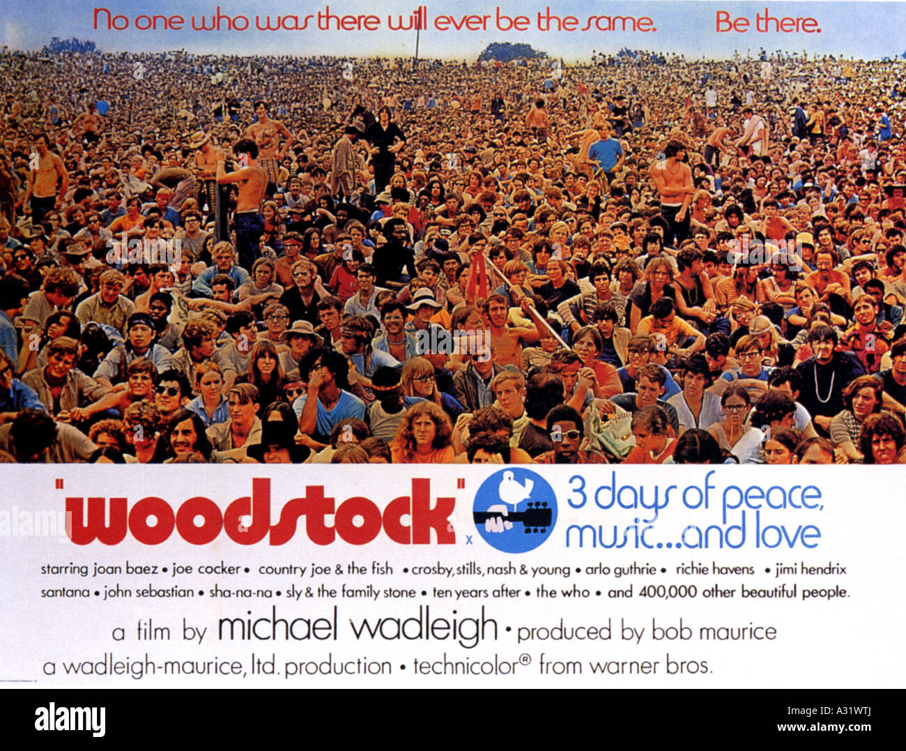 Pour L Affiche De Woodstock 970 Warner Film Documentaire Photo Stock Alamy