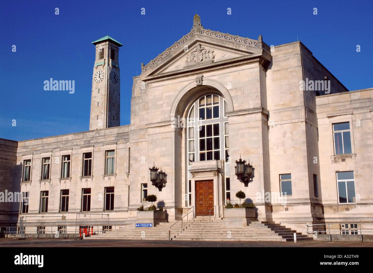 Mairie, Southampton, Hampshire, Angleterre Photo Stock