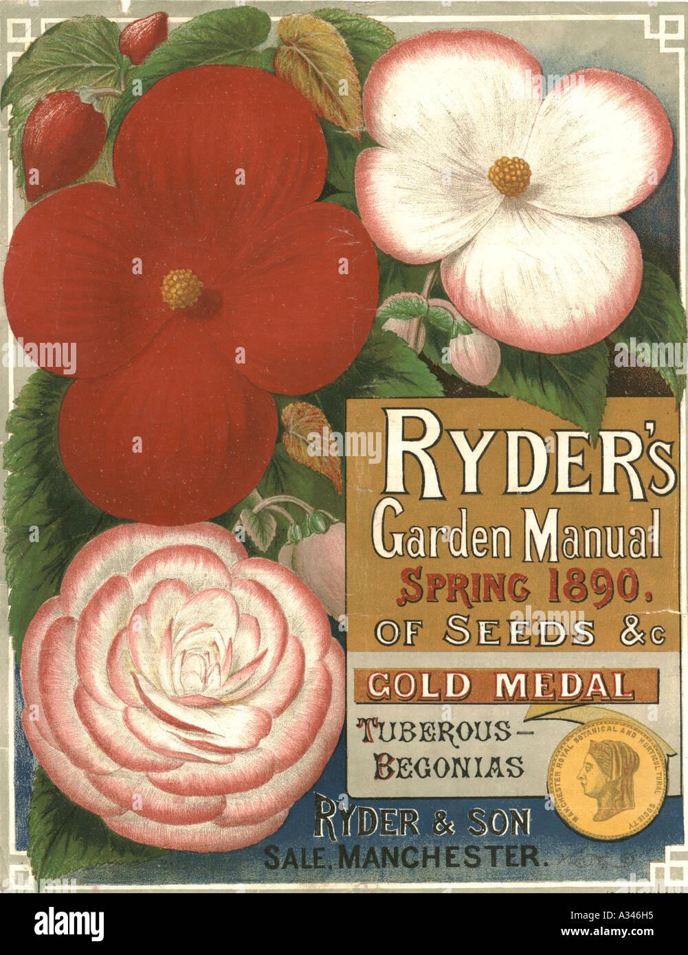 Ryder's garden manual 1890 Banque D'Images
