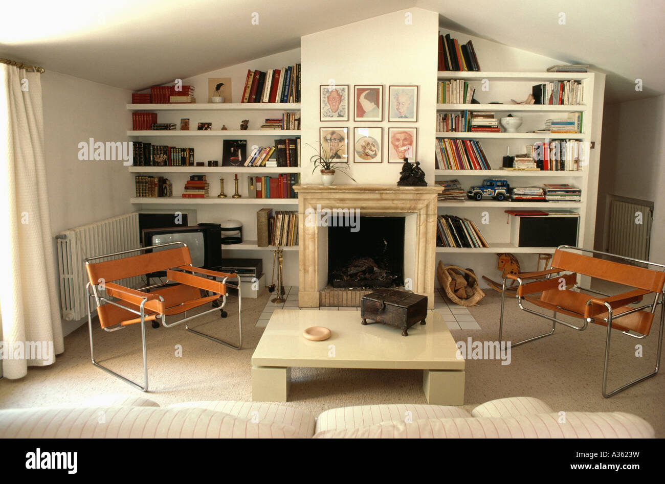 Marcel Breuer Wassily chrome +cuir chaises de salon moderne avec des ...
