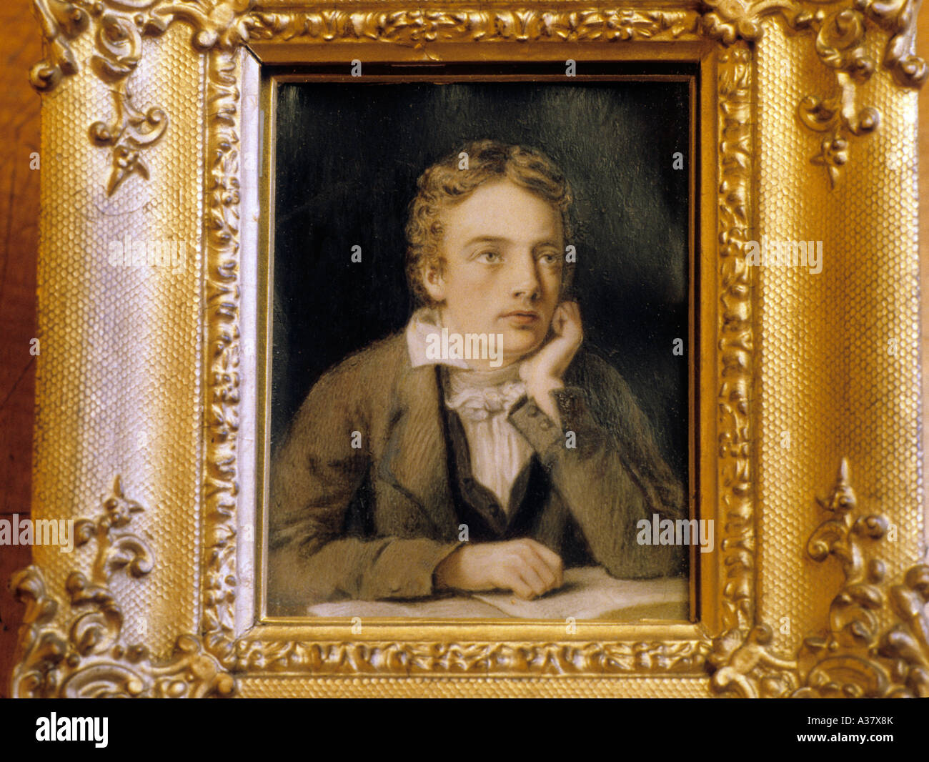 Littérature Romantique Anglaise john keats, poète romantique, la littérature anglaise, portrait par