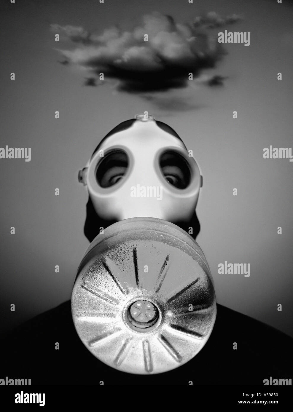 masque à gaz Photo Stock