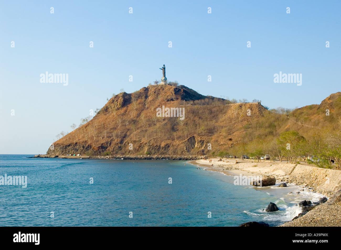 La statue du Christ, Dili, Timor Oriental Banque D'Images
