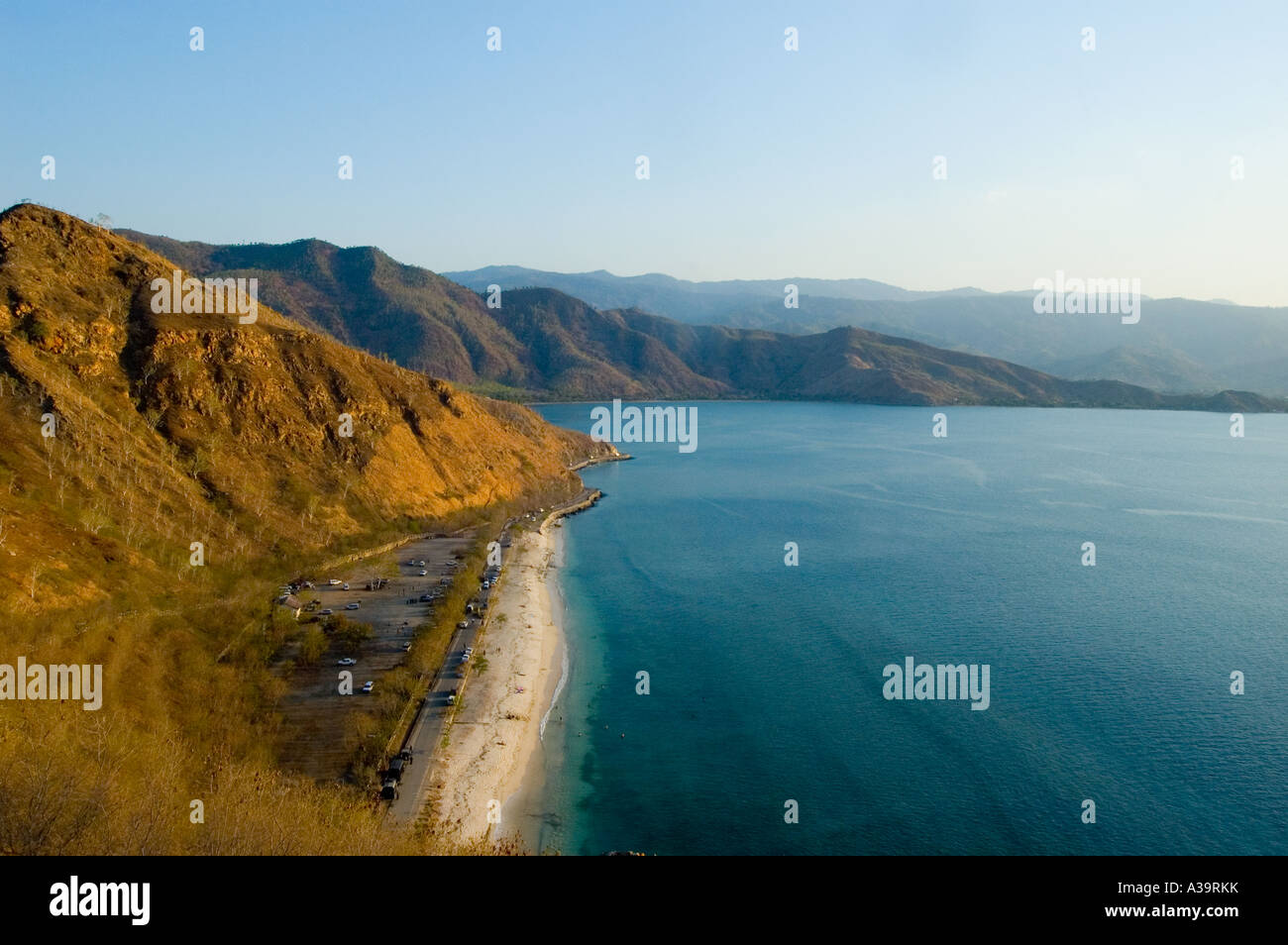 Donnant sur Dili, Timor Oriental Banque D'Images