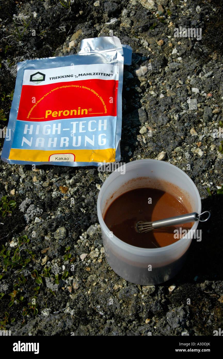 Peronin high-tech food kakao Eastgreenland Photo Stock