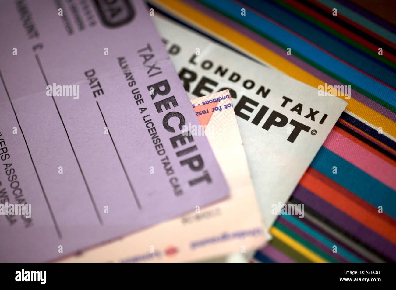 Recettes de taxi Photo Stock