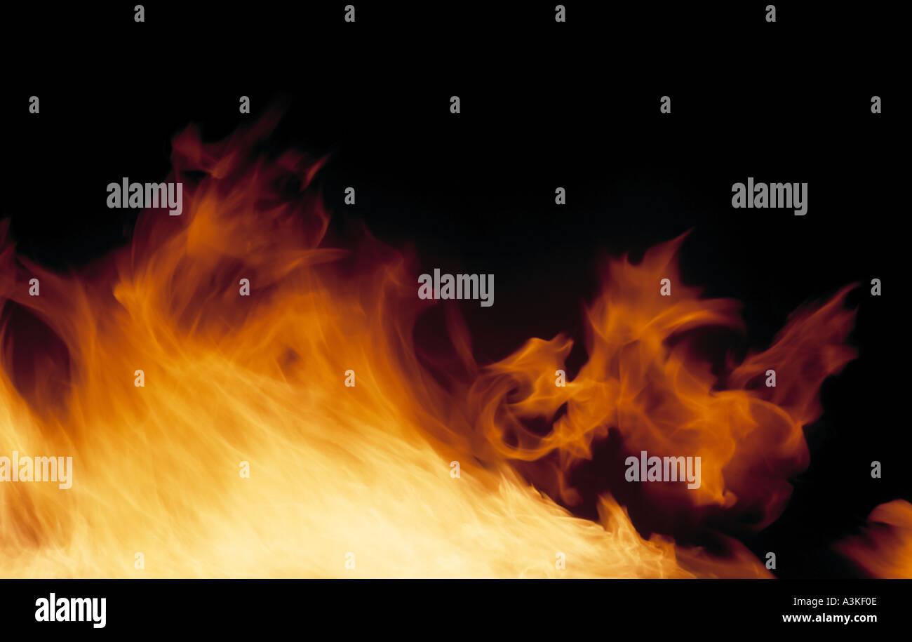 Souffle de flammes Photo Stock