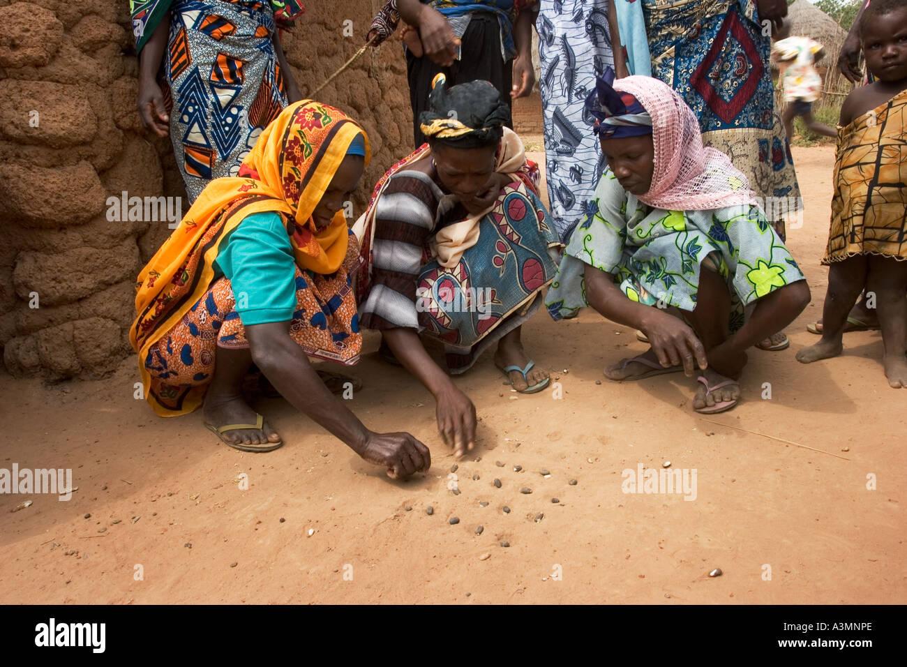 femmes à la recherche de graines