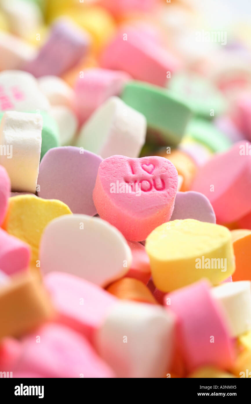 Je t'aime Candy Photo Stock