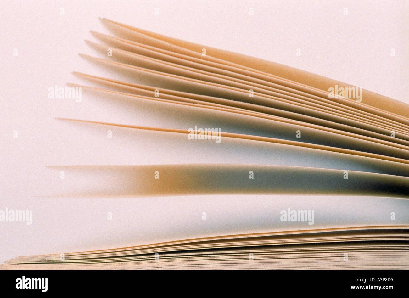 Pages du livre Banque D'Images