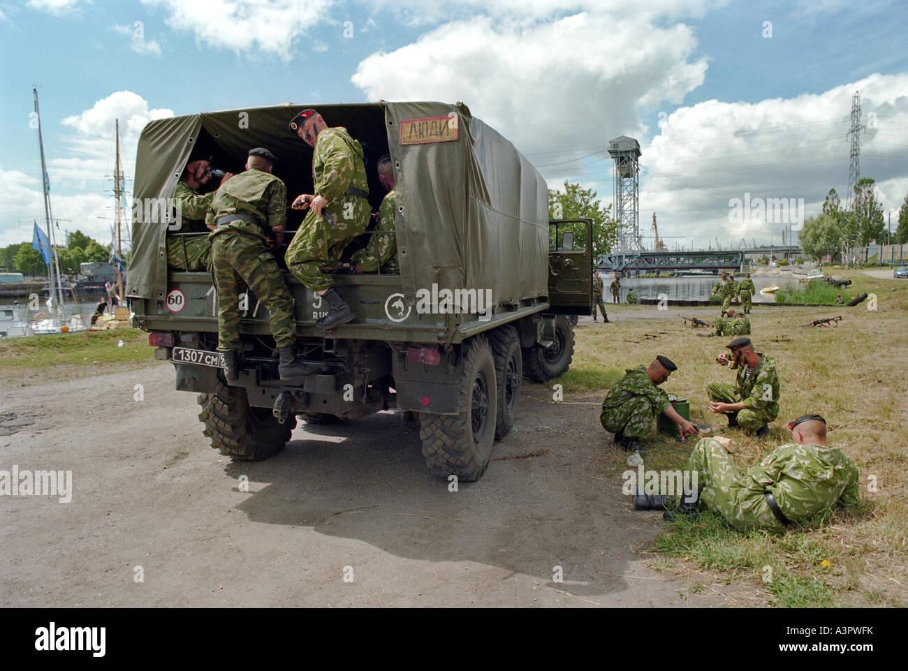 La marine russe de Kaliningrad, Russie, Photo Stock