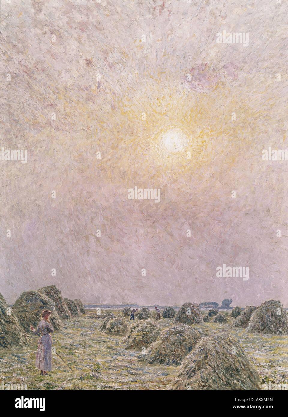 """'Fine Arts, Claus, Emile, (1849 - 1924), peinture, 'une journée ensoleillée"""", Musée Photo Stock"""