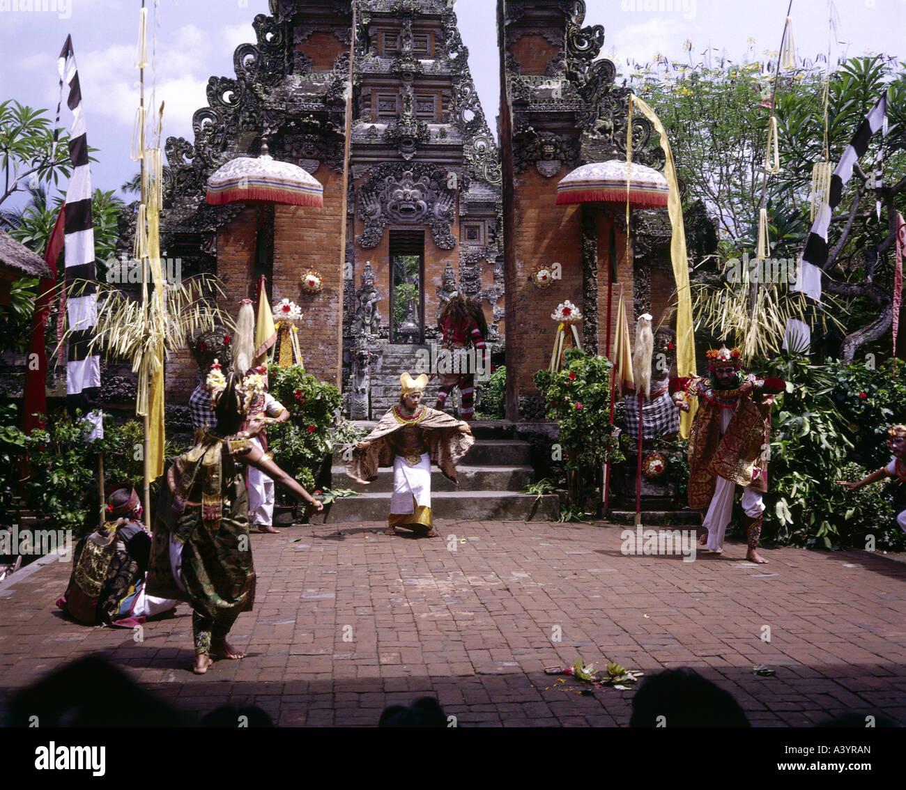 Billet /géographie, INDONÉSIE, Bali, tradition / folklore, danse Barong, apparition de Dewi Kunti, l'Asie Photo Stock