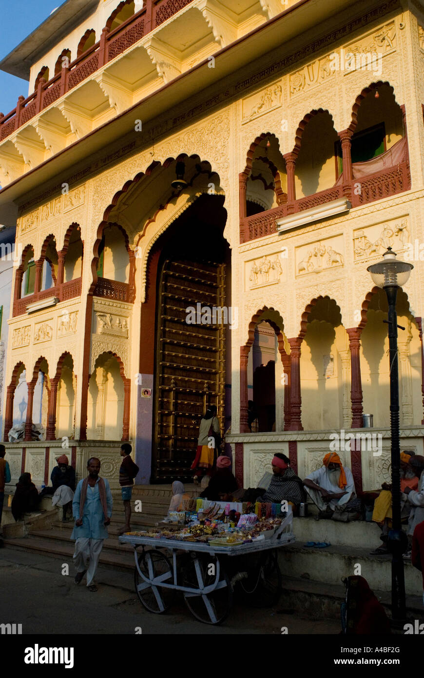 Image de temple hindou à Pushkar Photo Stock