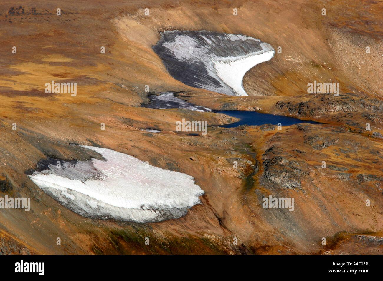Champs de neige sur le plateau de Beartooth, Wyoming Banque D'Images