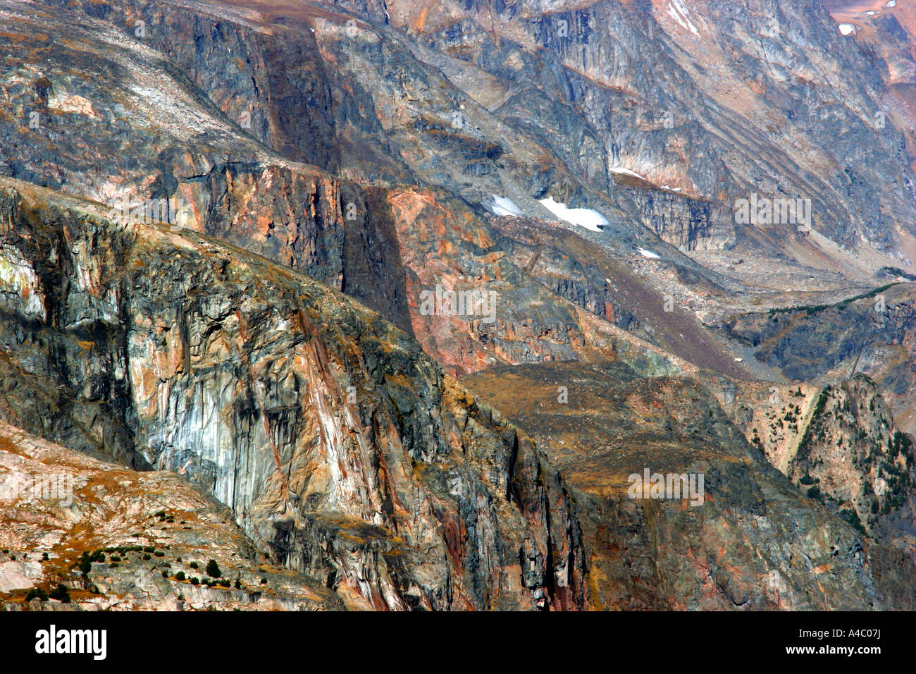 Détail de montagne au large de la route Beartooth, Wyoming Banque D'Images