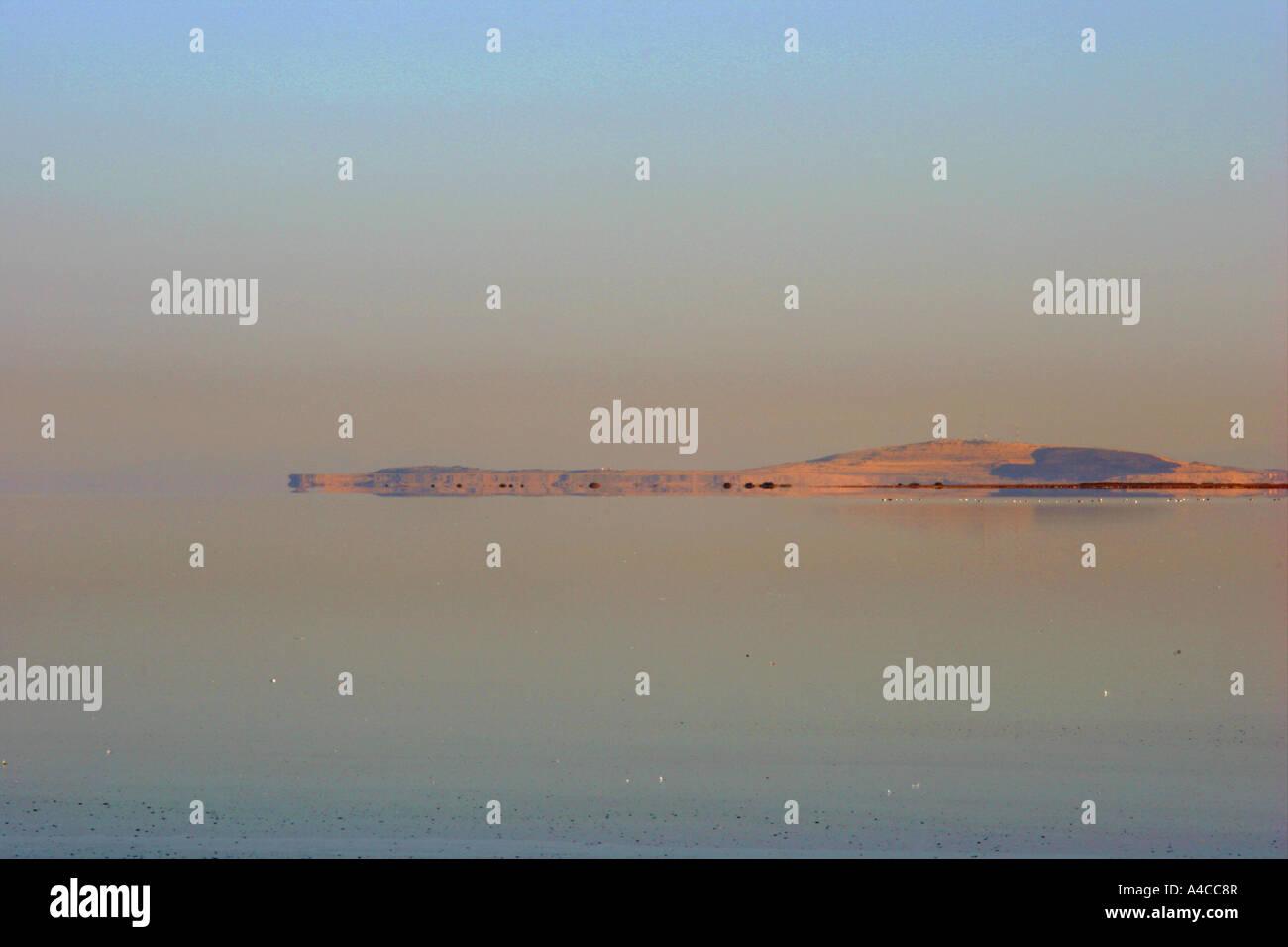 Grand lac salé en Utah, sunrise Banque D'Images