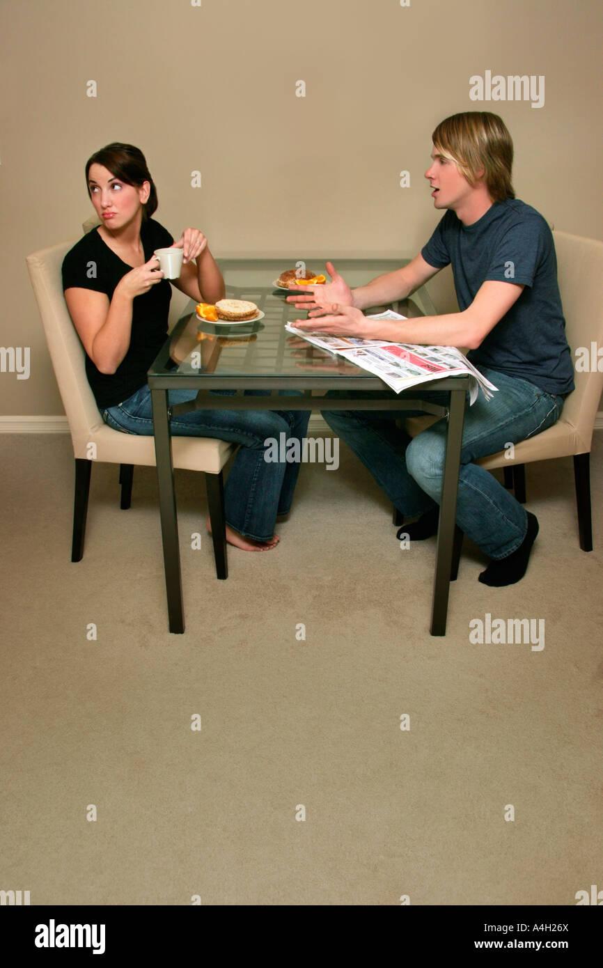 Couple having a fight Banque D'Images