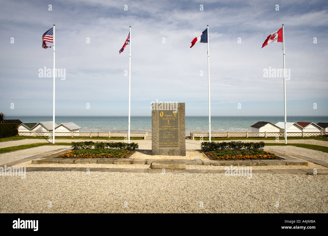 World War 2 memorial à libération D Jour Sword Beach, Luc Sur Mer, Normandie, France Photo Stock