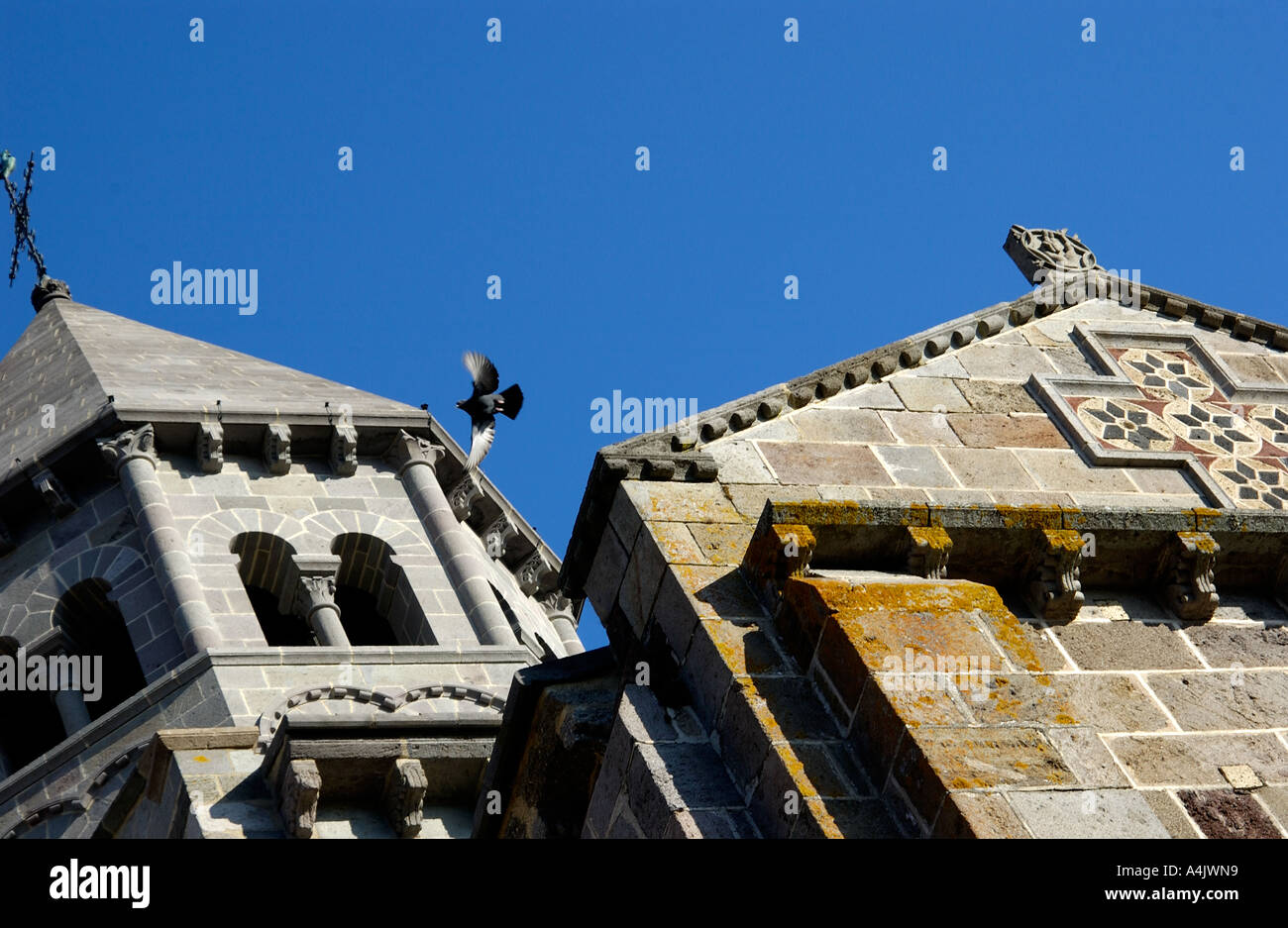 Notre-Dame-du-Mont-Cornadore de Saint-Nectaire, l'église romane de Saint Nectaire, Saint Nectaire, Puy de Dome, Auvergne, France Banque D'Images