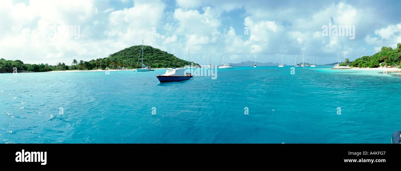 Antilles, Grenadines, Tobago Cays Photo Stock