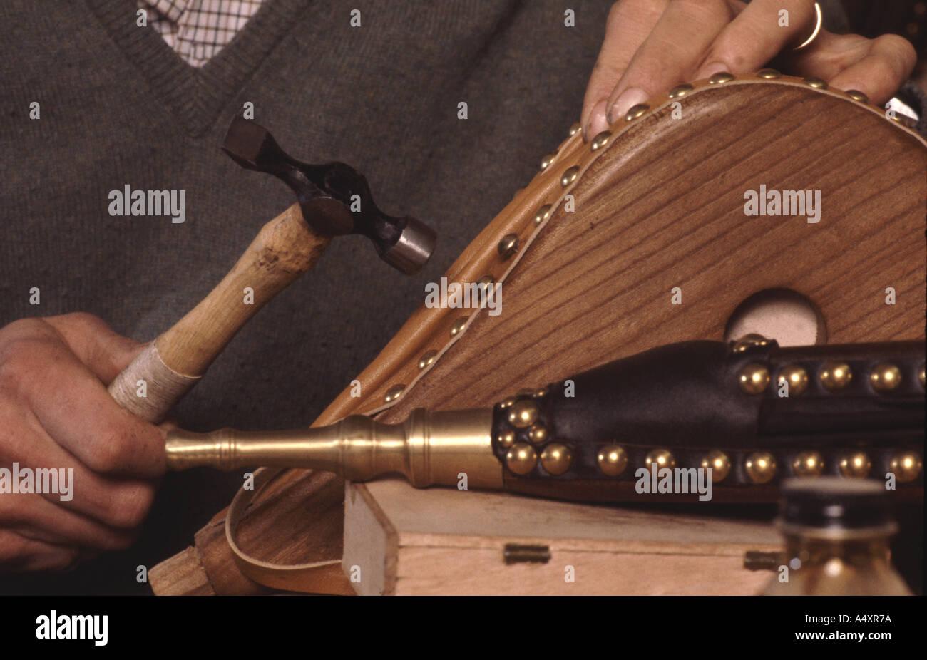 La main soufflet cheminée traditionnelle Photo Stock