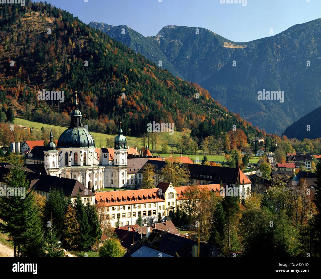 DE - La Bavière: le monastère bénédictin d'Ettal Photo Stock