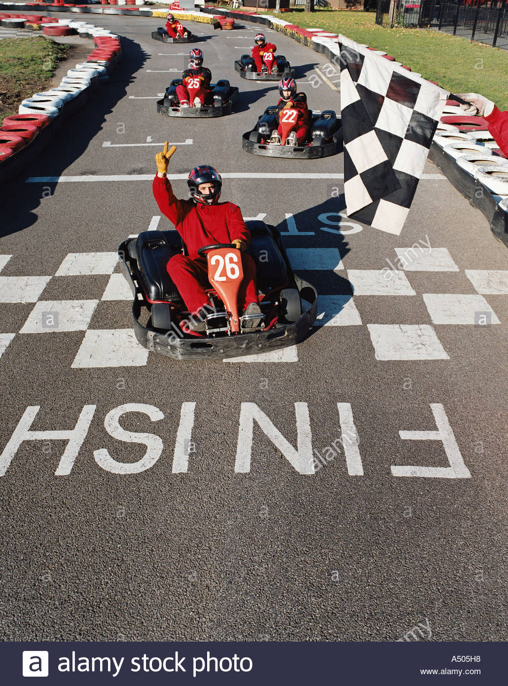 Allez racing kart Photo Stock