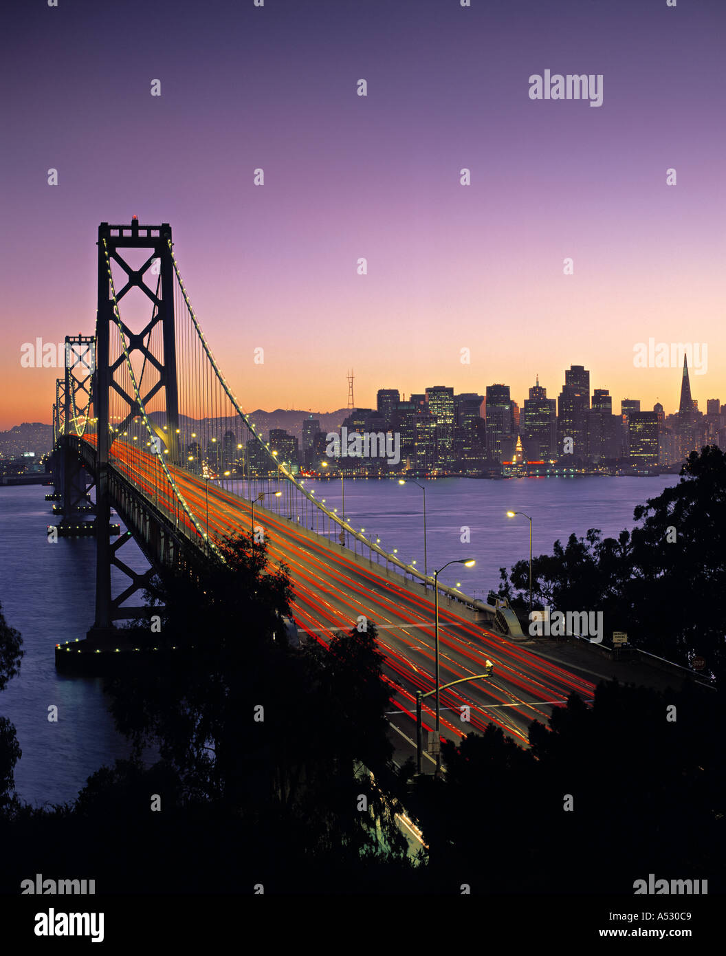 Oakland Bay Bridge, San Francisco, California, USA Banque D'Images