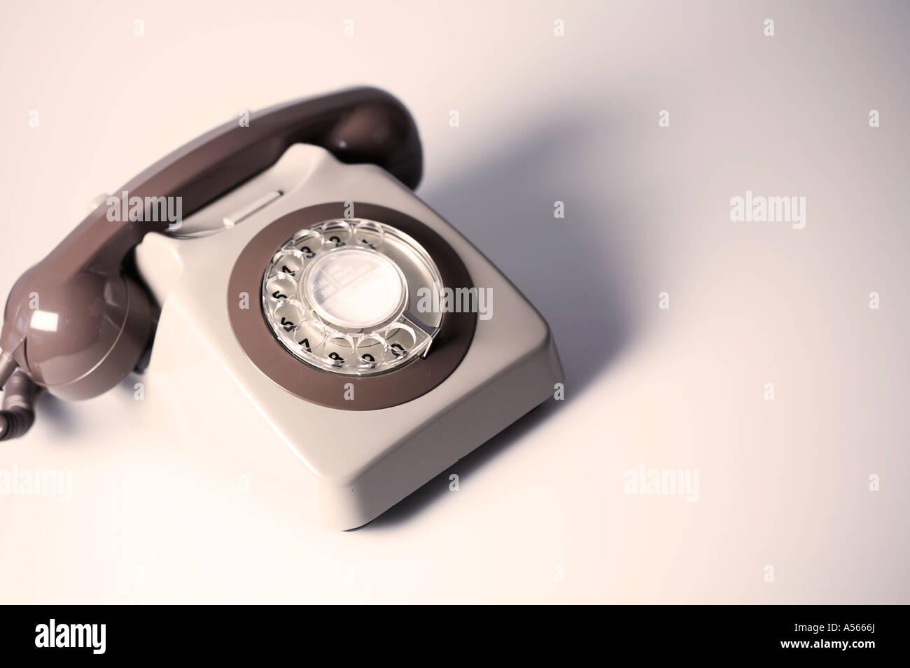 Téléphone rétro GPO 70 746 Britanniques Photo Stock