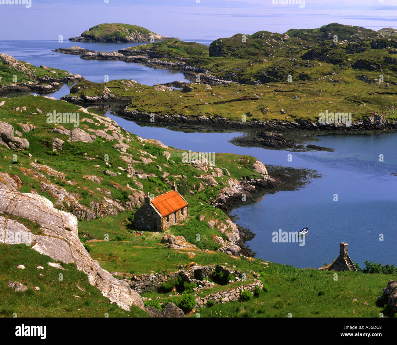 Fr - Scotland : Loch Geocrab sur Isle of Harris Photo Stock