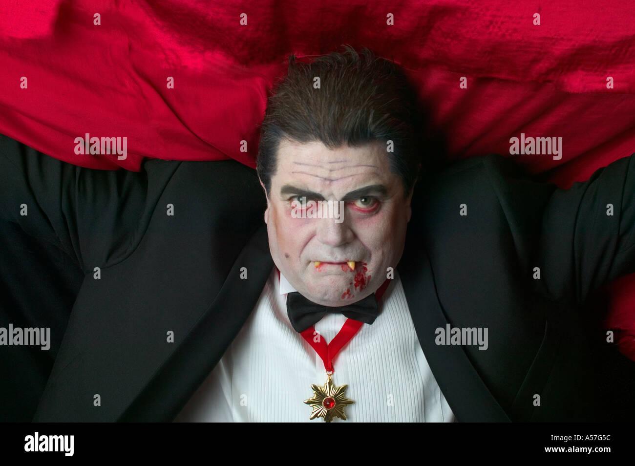 Vampire en vol vous regarder me regarder Photo Stock