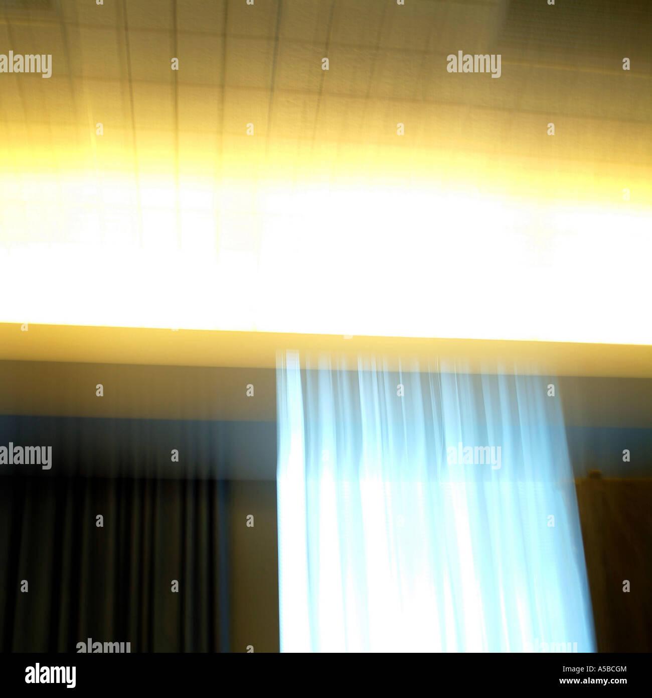 Lumière abstraite de l'architecture détaillée. Photo Stock