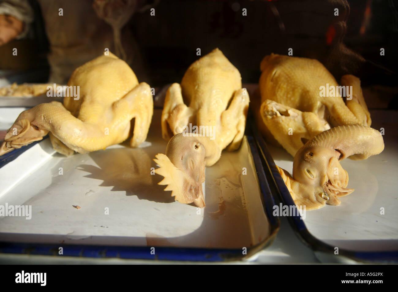 La préparation des aliments pour poulets Shanghai Chine Photo Stock