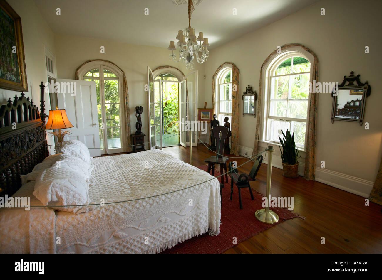 Hemingway House Key West Florida Usa Chambre Banque D Images