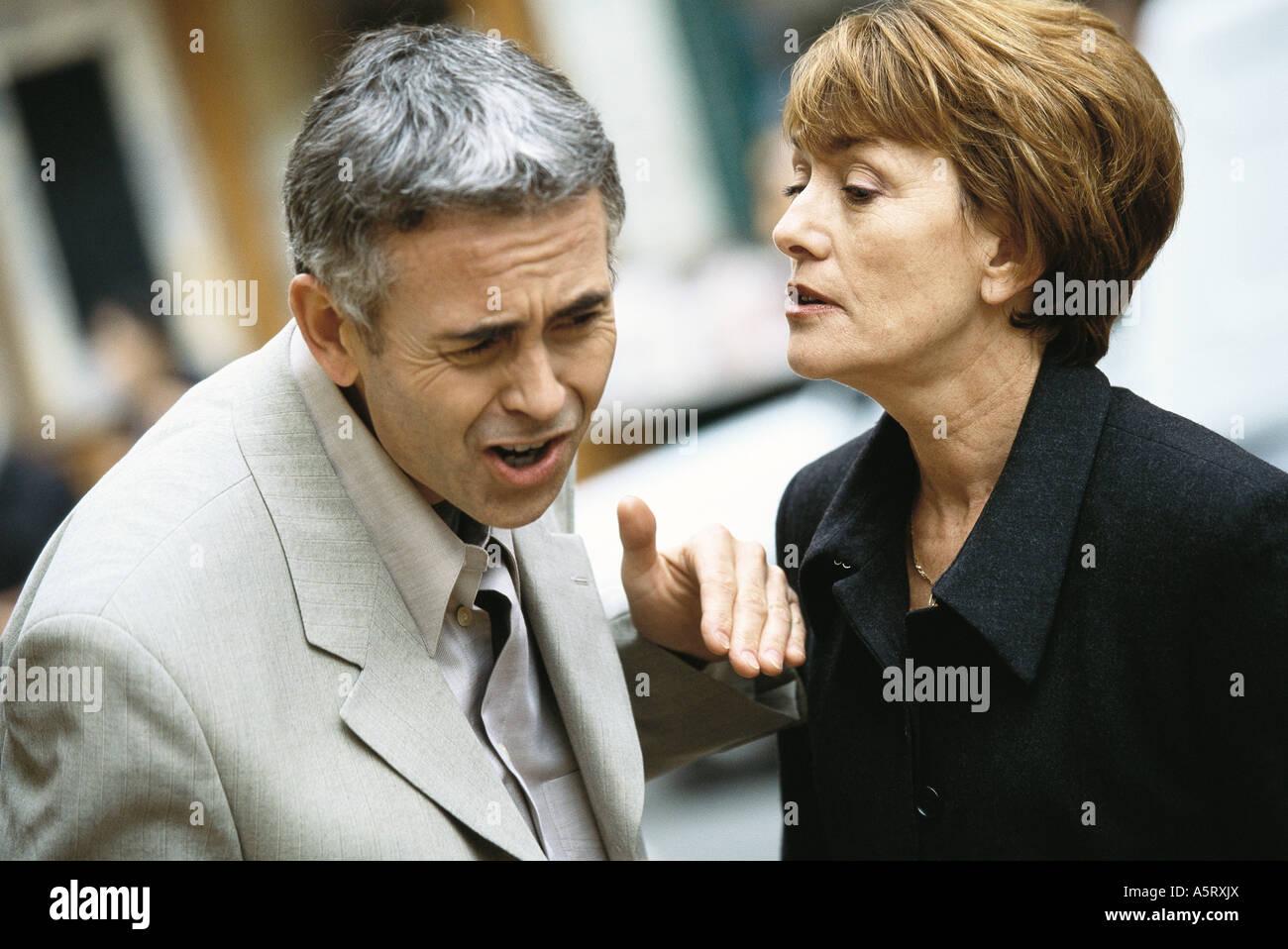 Young couple having argument Banque D'Images