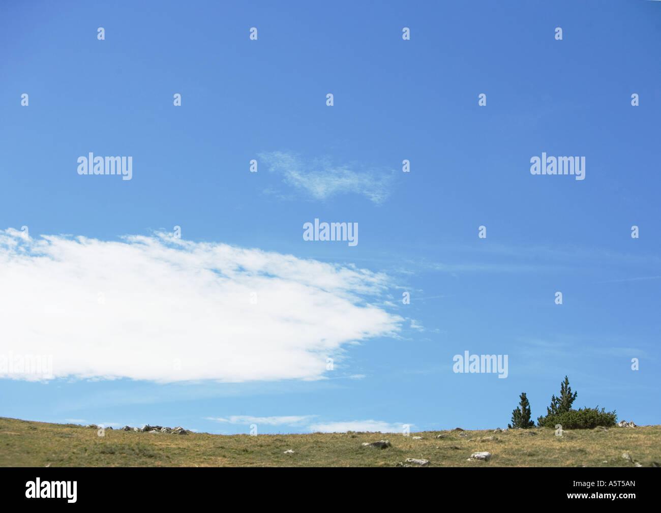 Ciel et paysage Photo Stock