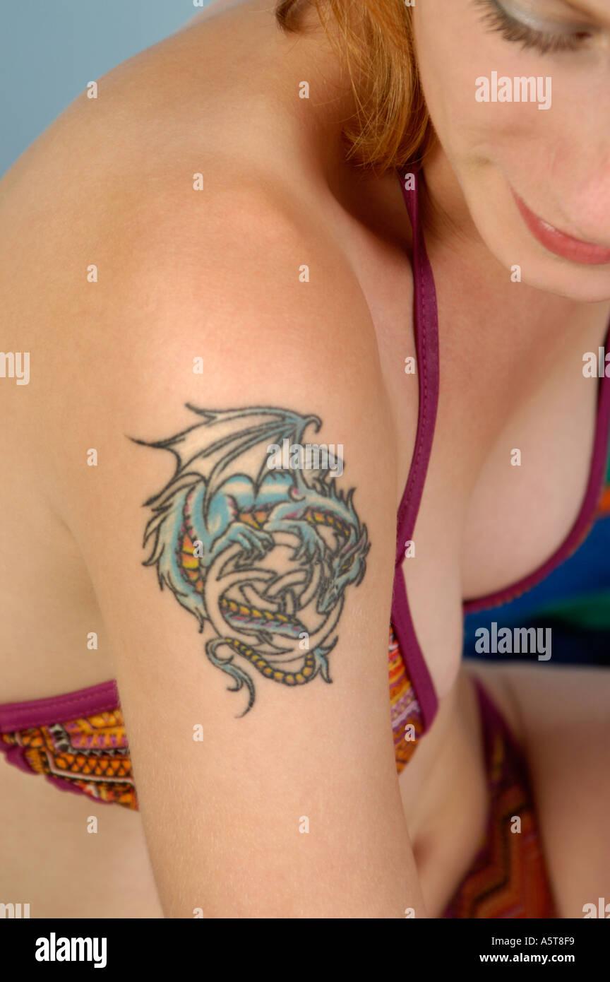 tattoo dragon photos tattoo dragon images alamy. Black Bedroom Furniture Sets. Home Design Ideas