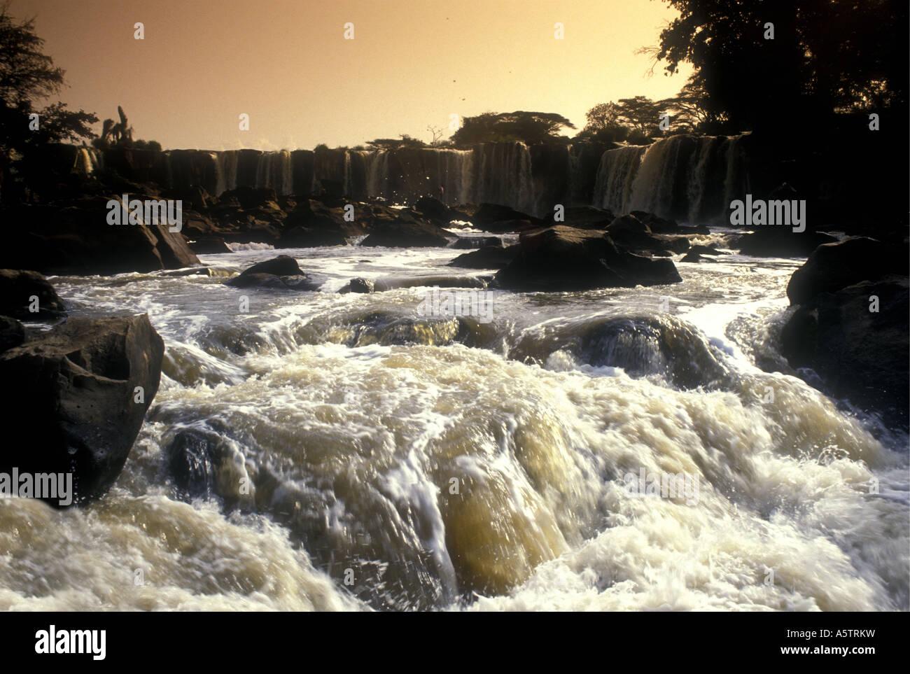Quatorze Falls sur l'Athi River près de Thika Kenya Afrique de l'Est Photo Stock